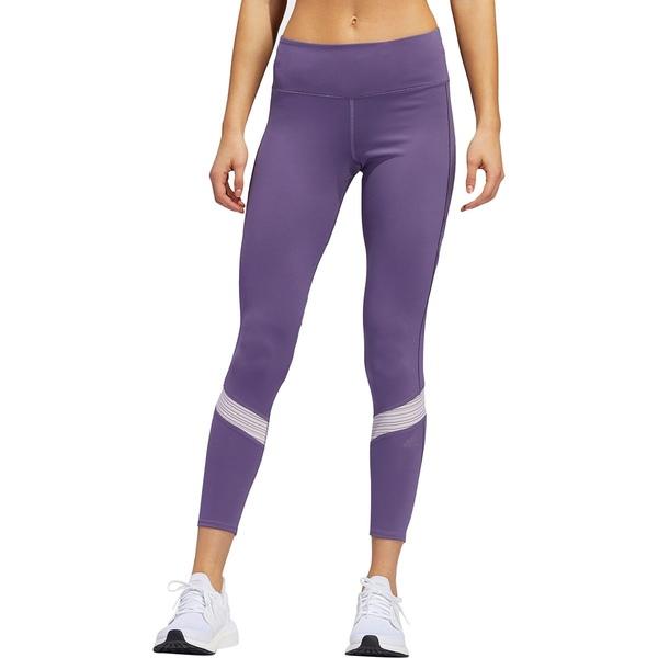 アディダス レディース カジュアルパンツ ボトムス How We Do 7/8 Tight - Women's Tech Purple/Purple Tint