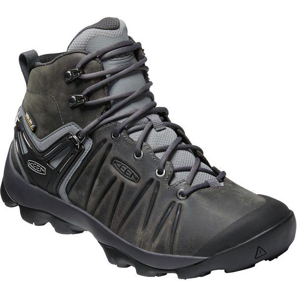 キーン メンズ ハイキング スポーツ Venture Mid Leather Waterproof Hiking Boot - Men's Steel Grey/Magnet