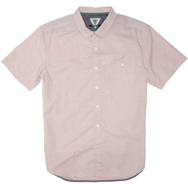 ヴィスラ メンズ シャツ トップス Sun Dazer Short-Sleeve Woven Shirt - Men's Pink Fade