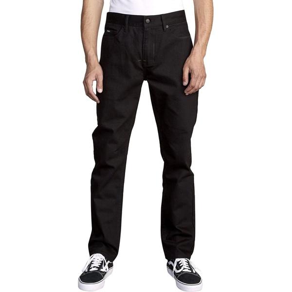 ルーカ メンズ カジュアルパンツ ボトムス Daggers Denim Pant - Men's Black Black
