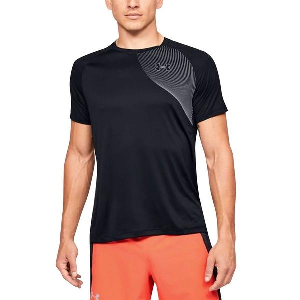 アンダーアーマー メンズ シャツ トップス Qualifier ISO-Chill Short-Sleeve Shirt - Men's Black/Black/Reflective