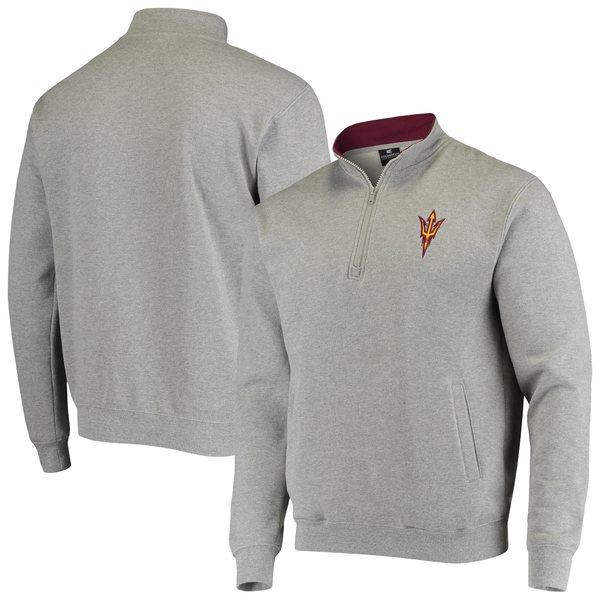 コロシアム メンズ ジャケット&ブルゾン アウター Arizona State Sun Devils Colosseum Tortugas Logo QuarterZip Jacket Maroon