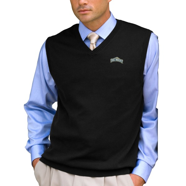 ビンテージアパレル メンズ ジャケット&ブルゾン アウター Mount St. Mary's Mountaineers Milano Knit Sweater Vest Black
