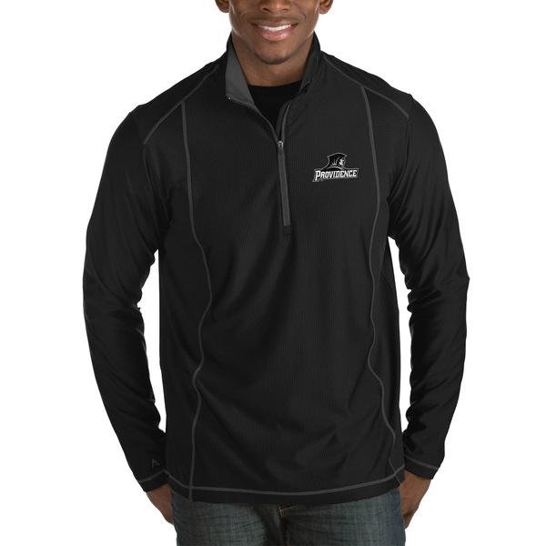アンティグア メンズ ジャケット&ブルゾン アウター Providence Friars Antigua Tempo HalfZip Pullover Big & Tall Jacket Black