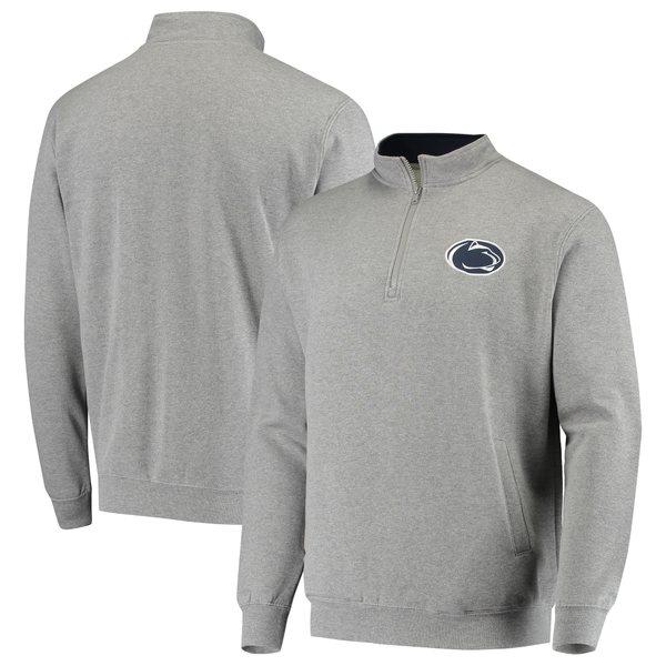 コロシアム メンズ ジャケット&ブルゾン アウター Penn State Nittany Lions Colosseum Tortugas Logo QuarterZip Jacket Charcoal