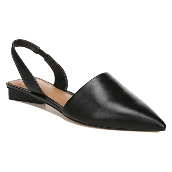 サルトバイフランコサルト レディース サンダル シューズ SARTO by Franco Sarto Graydon Pointy Toe Slingback Flat (Women) Black Nappa Leather