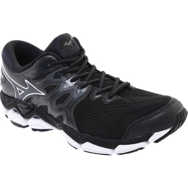 ミズノ メンズ スニーカー シューズ Wave Horizon 3 Running Shoe Black/Dark Shadow