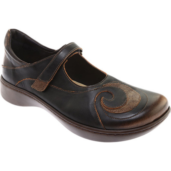 ナオト レディース スニーカー シューズ Sea Mary Jane Volcanic Brown Leather/Bronze Shimmer Suede