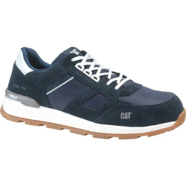 キャタピラー メンズ スニーカー シューズ Woodward Steel Toe Work Shoe Blue Nights Nylon Mesh
