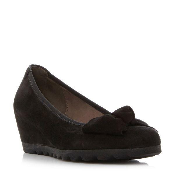 【当日出荷】ガボール スニーカー レディース Gable Cleated Sole Bow Detail Pump Shoes blac【サイズ 7】