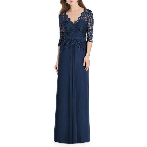 【当日出荷】 ジェニー・パッカム レディース ワンピース Jenny Packham Lux Chiffon Gown Midnight 【サイズ 6】