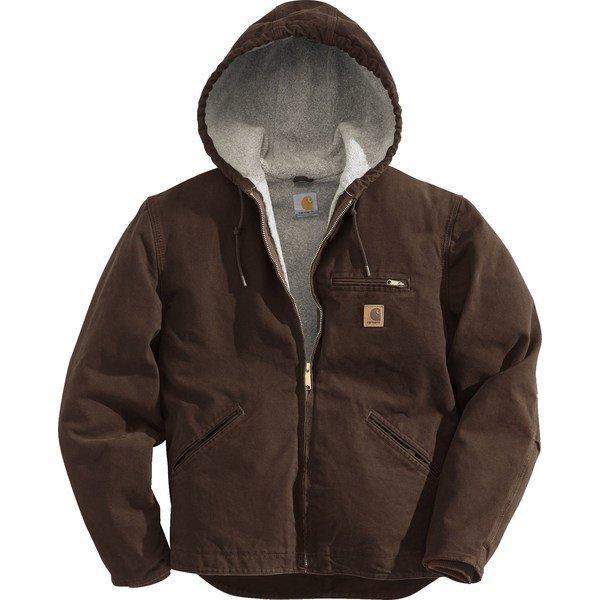 【当日出荷】 カーハート メンズ ジャケット&ブルゾン Carhartt Men's Sandstone Sierra Jacket DarkBrown 【サイズ XL】