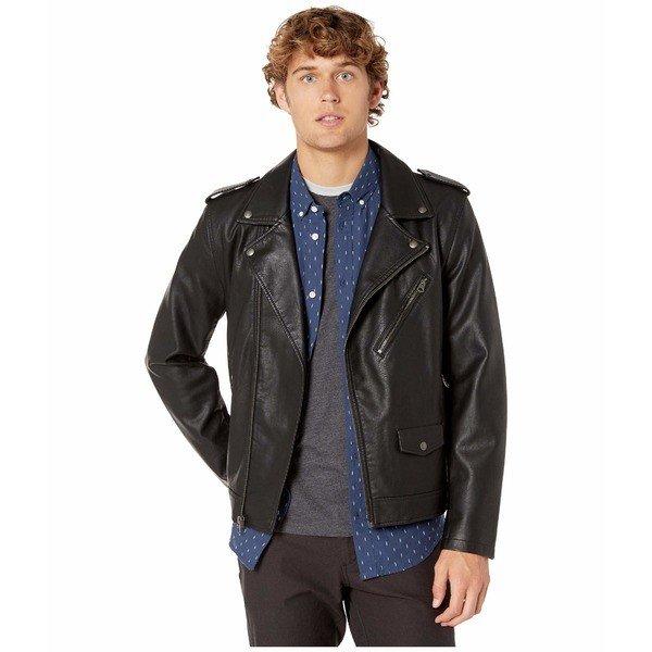 【当日出荷】 リーバイス メンズ コート Faux Leather Moto Black 【サイズ L】