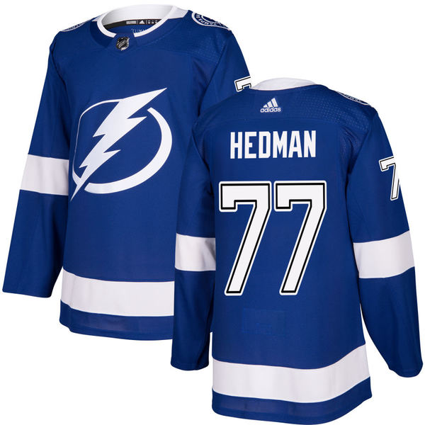 アディダス メンズ ユニフォーム トップス Tampa Bay Lightning adidas Authentic Custom Jersey Blue