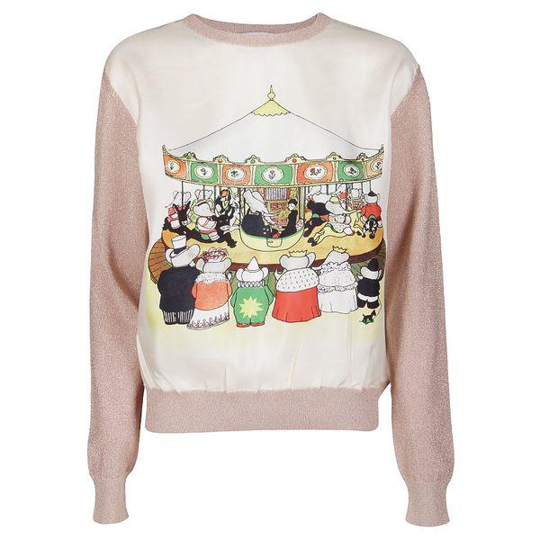 100%品質 ランバン レディース ニット&セーター アウター Lanvin Contrasting Front Printed Sweater -, 贈り物本舗じざけや 86ee7950