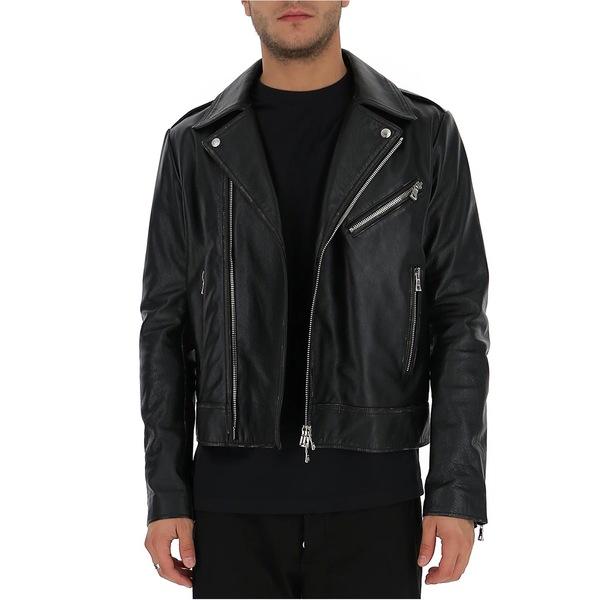 日本に バルマン メンズ ジャケット&ブルゾン アウター Balmain Logo Embossed Biker Jacket -, 威風堂 3684400d