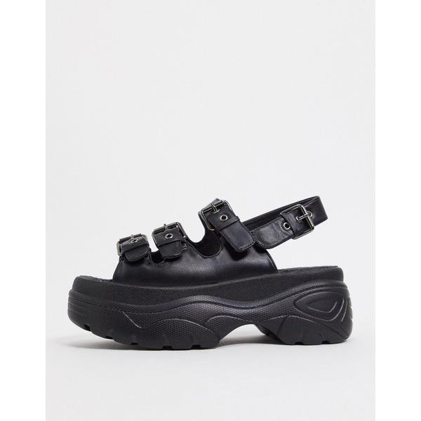 コイ フットウェア 品質検査済 レディース シューズ サンダル Black 全商品無料サイズ交換 Koi vegan flatform in chunky black 激安超特価 sandals Footwear