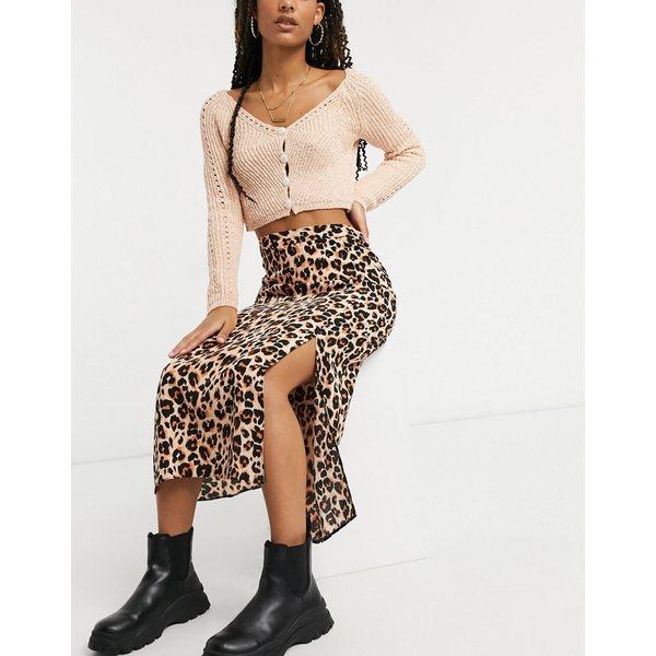 ノーバディーズ チャイルド レディース ボトムス スカート Cream black 全商品無料サイズ交換 Nobody's NEW ARRIVAL Child skirt slip スピード対応 全国送料無料 leopard in co-ord midi print