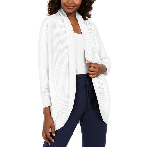 【お気にいる】 ケレンスコット レディース ニット&セーター アウター Cocoon Open-Front Cardigan, Bright White, フルショット b95cc7ee