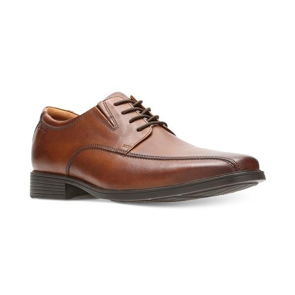 Men's メンズ Leather ドレスシューズ Tan Tilden Walk シューズ Dark Oxford クラークス