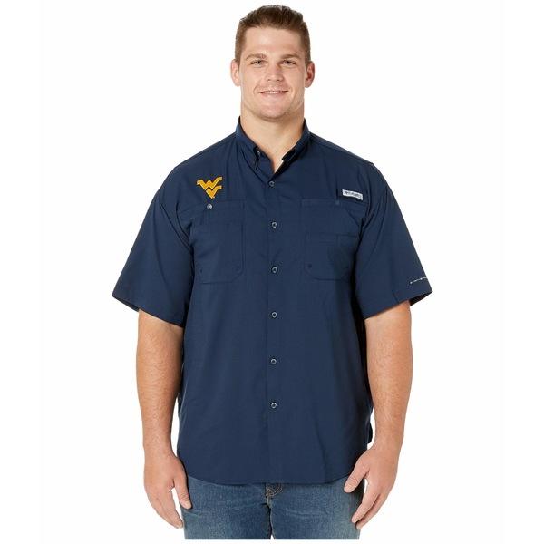 コロンビアカレッジ メンズ シャツ トップス Big & Tall West Virginia Mountaineers Collegiate Tamiami II Short Sleeve Shirt Collegiate Navy