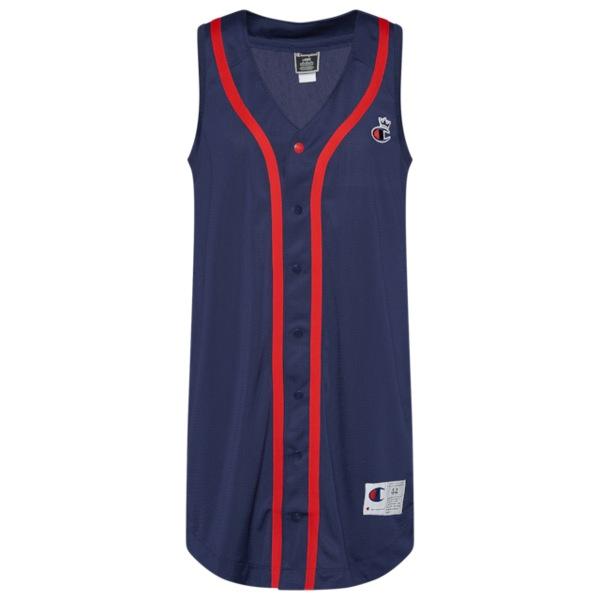 チャンピオン レディース ワンピース トップス Mesh Baseball Dress Imperial Indigo