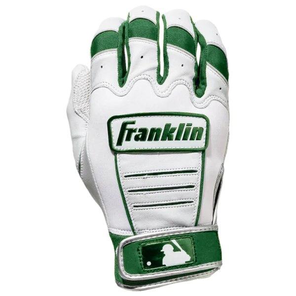 フランクリン メンズ 野球 スポーツ CFX Pro Batting Gloves Pearl/Dark Green | Exclusive