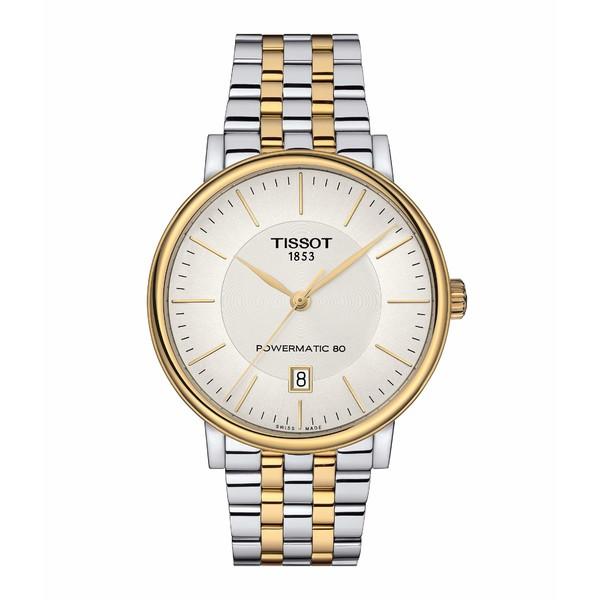 ティソット メンズ 腕時計 アクセサリー T-Classic Carson Premium Powermatic 80 - T1224072203100 Silver
