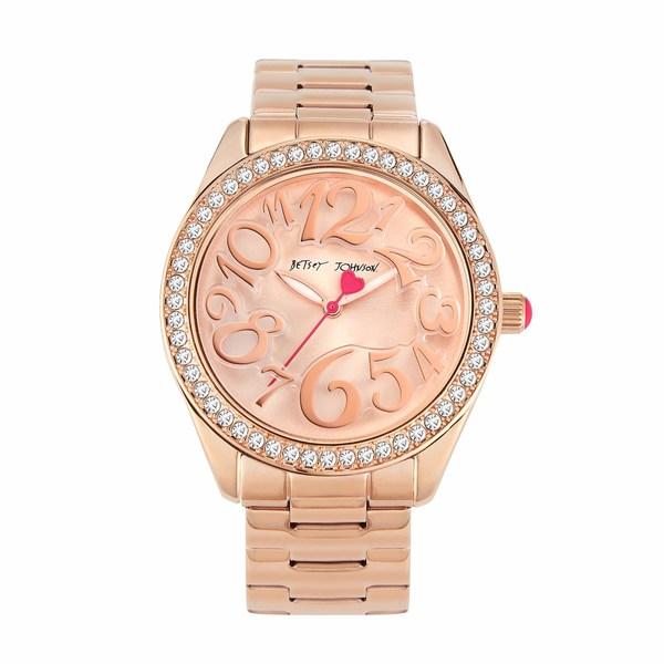 ベッツィジョンソン レディース 腕時計 アクセサリー Classic Betsey Watch Rose Gold