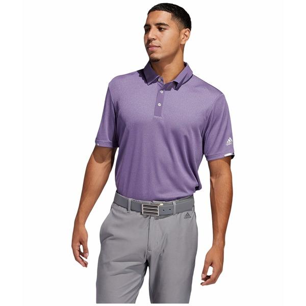 アディダス メンズ シャツ トップス Heat.Rdy Base Polo Shirt Tech Purple Melange