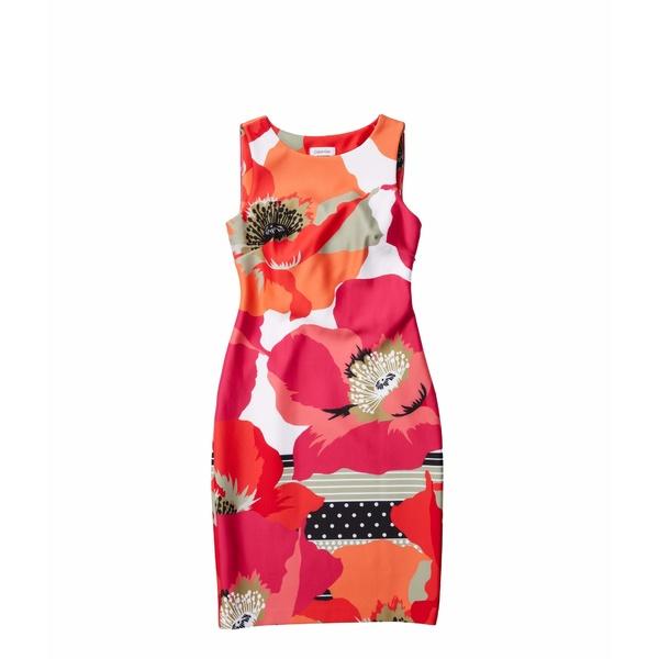 カルバンクライン レディース ワンピース トップス Floral Print Sheath Dress Hibiscus Multi