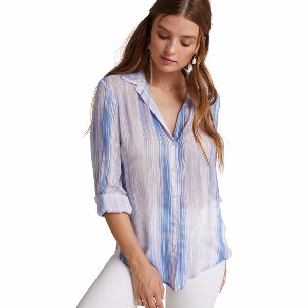 ベラダール レディース シャツ トップス Flowy Button-Down Shirt Ombre Watercolor