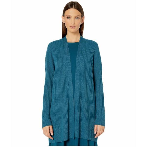 エイリーンフィッシャー レディース ニット&セーター アウター Italian Cashmere Simple Cardigan Blue Spruce
