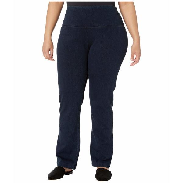 リジー レディース デニムパンツ ボトムス Plus Size Denim Straight Leg Jeans Indigo
