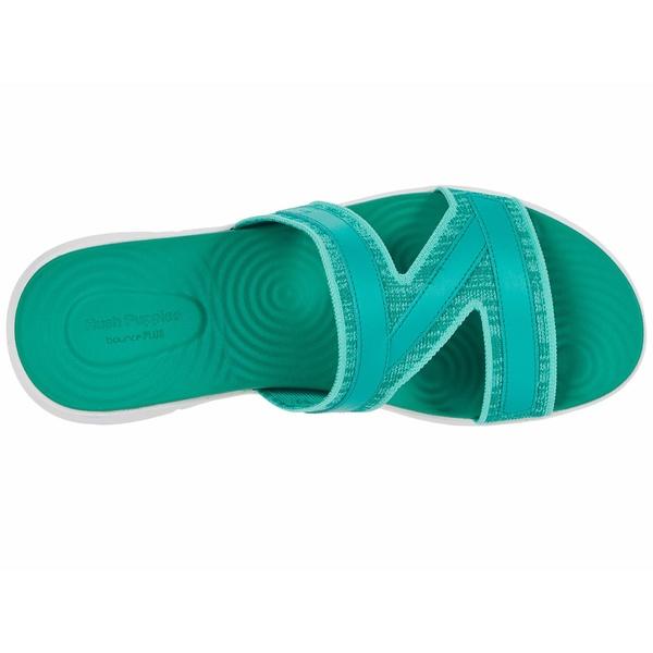 ハッシュパピー レディース サンダル シューズ Willa Knit Slide Deep Green Knit FlockZTwOPuikX