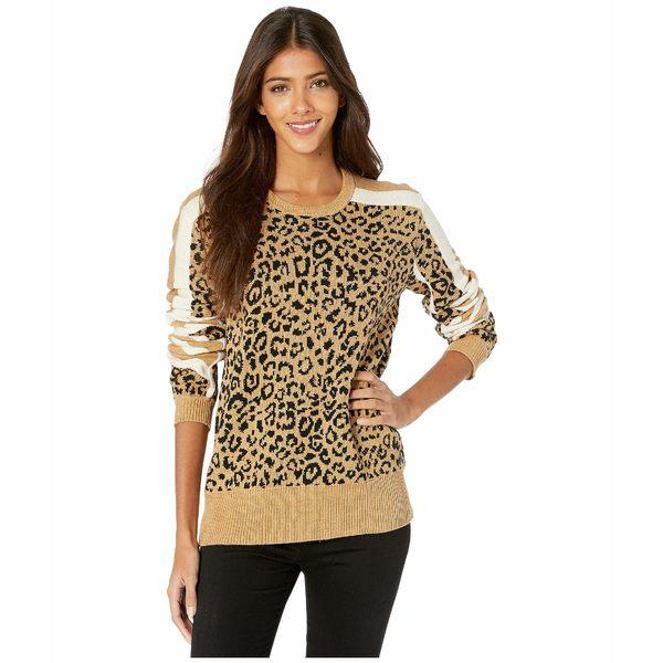 カレント エリオット レディース ニット&セーター アウター The Duvall Sweater Camel/Black