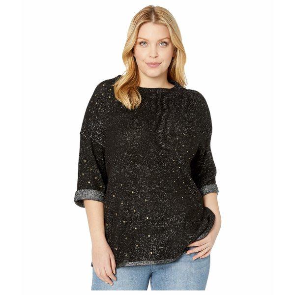 ニックプラスゾーイ レディース ニット&セーター アウター Plus Size Starry Eyed Sweater Black Onyx