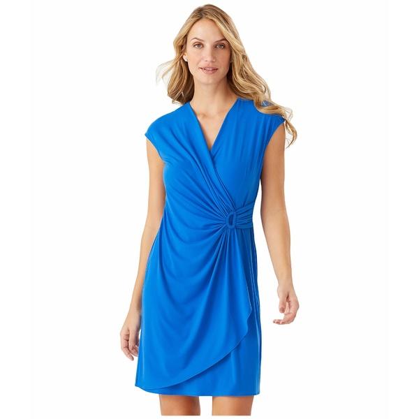 トッミーバハマ レディース ワンピース トップス Carmela Short Sleeve Faux Wrap Dress Turkish Sea
