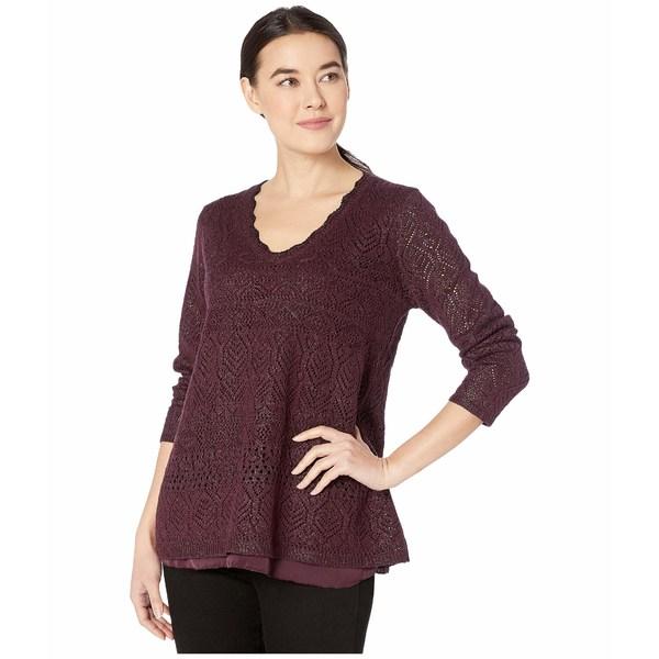 ニックプラスゾーイ レディース ニット&セーター アウター Petite Shine On Sweater Winterberry