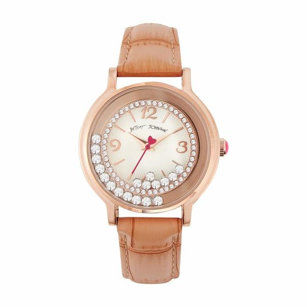 ベッツィジョンソン レディース 腕時計 アクセサリー Moving Crystals Watch Rose Gold