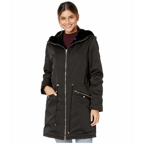 ラブトークン レディース コート アウター Tayna Faux Fur Reversible Hooded Jacket Black