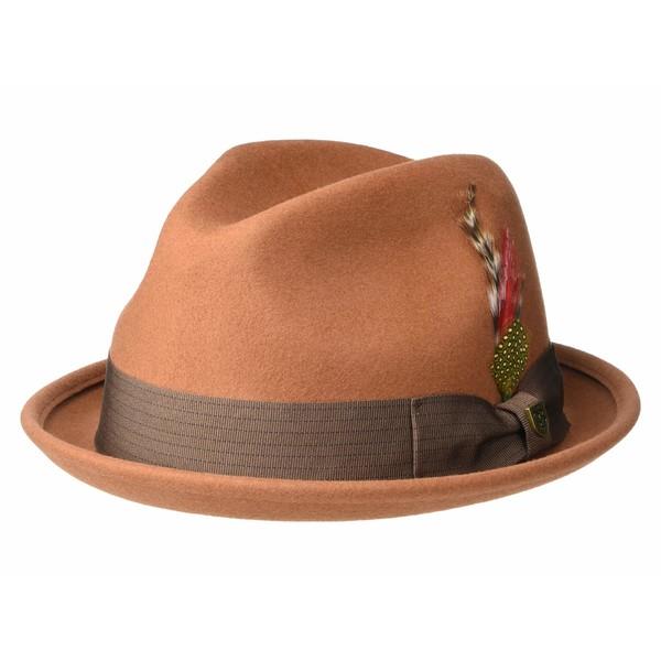 ブリクストン メンズ 帽子 アクセサリー Gain Fedora Rust