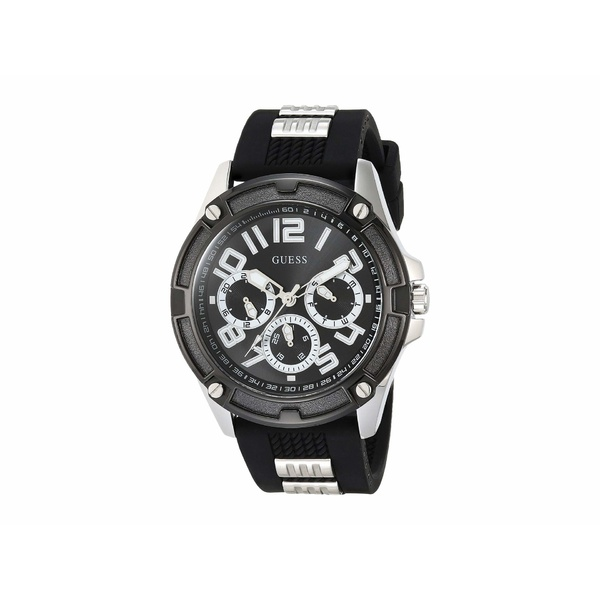 ゲス メンズ 腕時計 アクセサリー GW0051G1 Black/Gunmetal