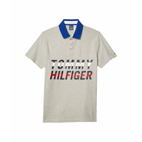 トミーヒルフィガー メンズ シャツ トップス Polo Shirt with Magnetic Buttons Slim Fit Heather Grey