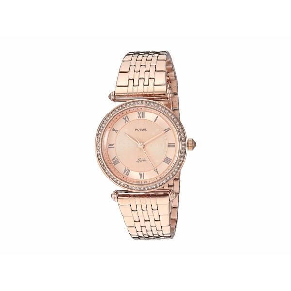 フォッシル レディース 腕時計 アクセサリー Lyric Three-Hand Watch ES4711 Rose Gold Stainless Steel