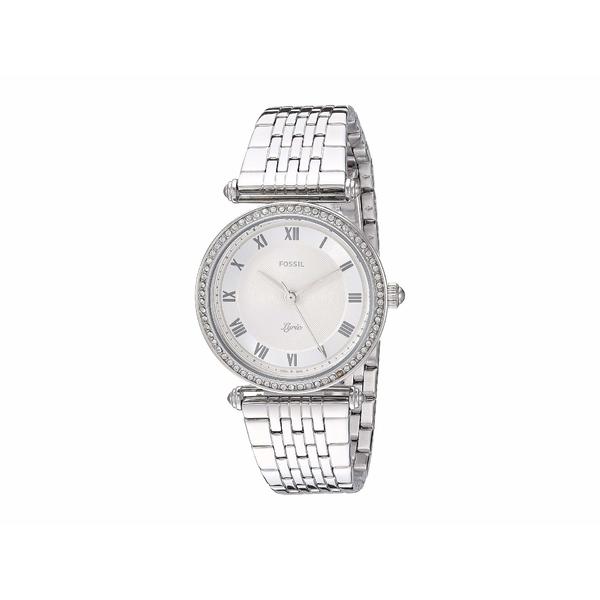 フォッシル レディース 腕時計 アクセサリー Lyric Three-Hand Watch ES4712 Silver Stainless Steel