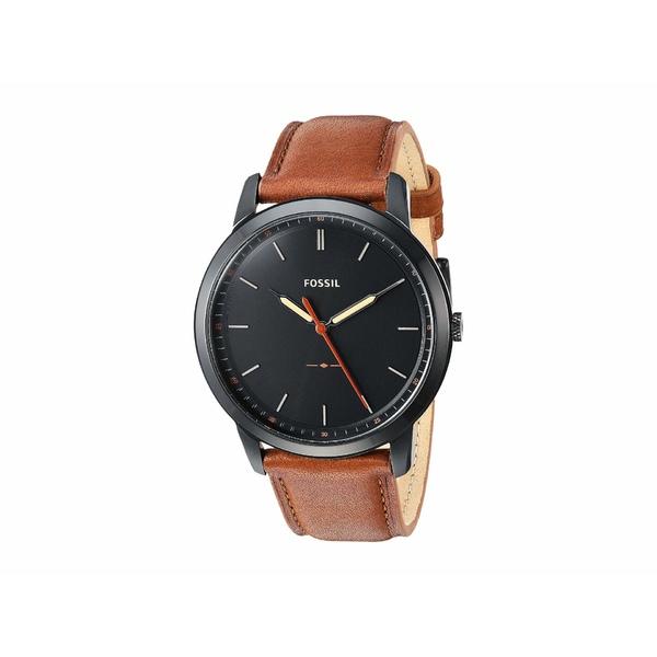 フォッシル メンズ 腕時計 アクセサリー Minimalist Three-Hand Watch FS5305 Black Light Brown Leather