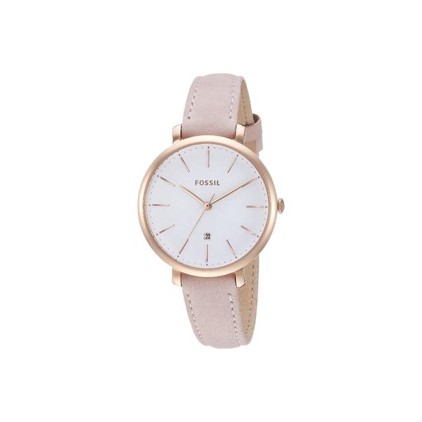 フォッシル レディース 腕時計 アクセサリー Jacqueline Three-Hand Leather Watch ES4369 Rose Gold Pastel Pink Leather