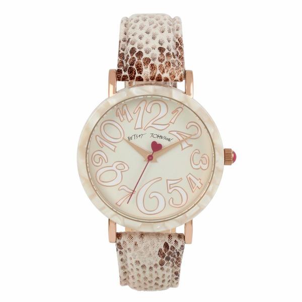 ベッツィジョンソン レディース 腕時計 アクセサリー Sleek Slithering Watch Rose Gold