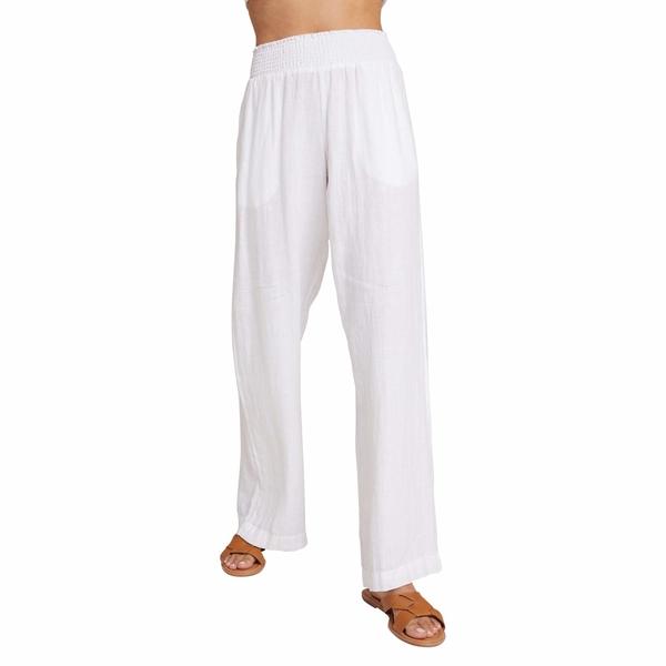 ベラダール レディース カジュアルパンツ ボトムス Smocked Wide Leg Pants White